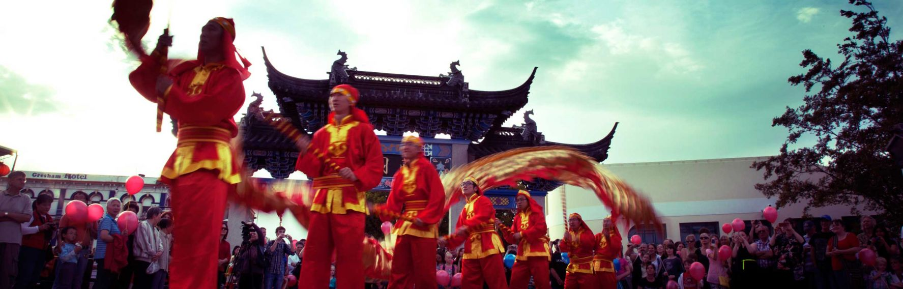 Dragon dance at Chinese New Year celebrations in Dunedin