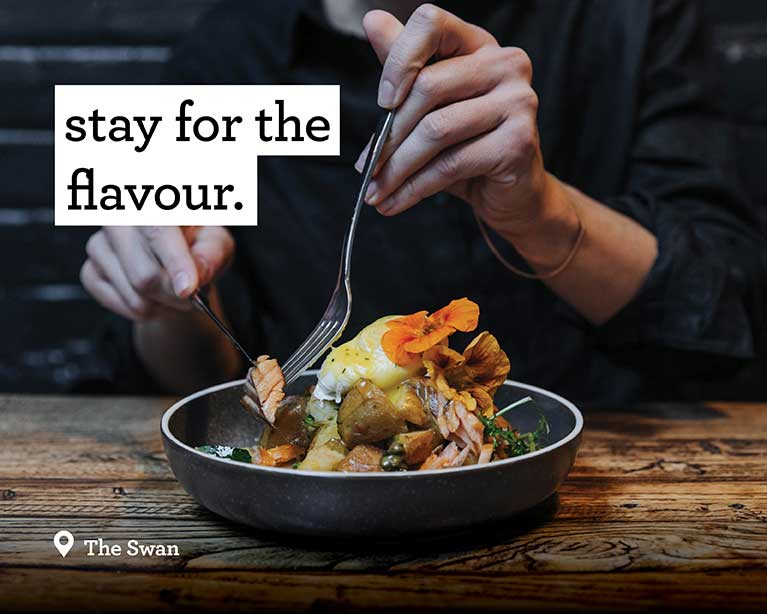 Stay for the flavour - The Swan