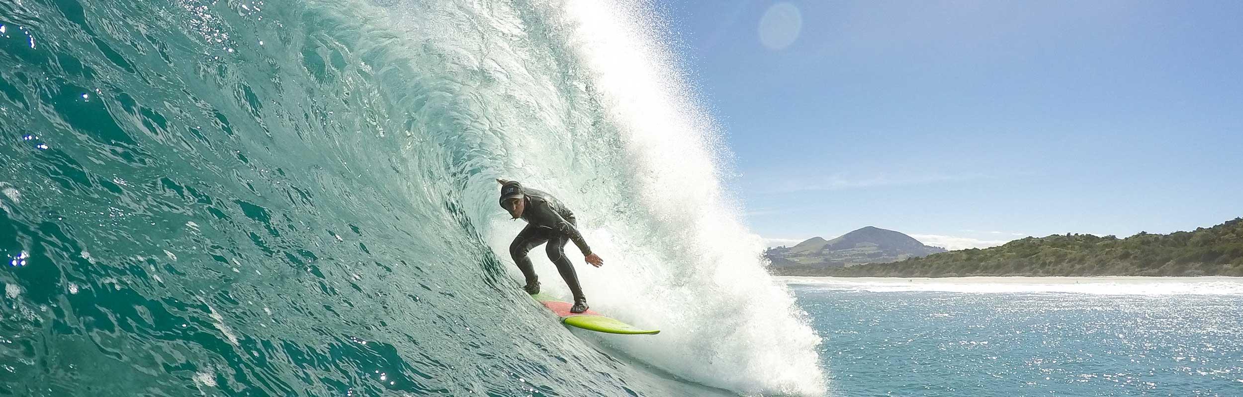 Dunedin Surfer at Blackhead