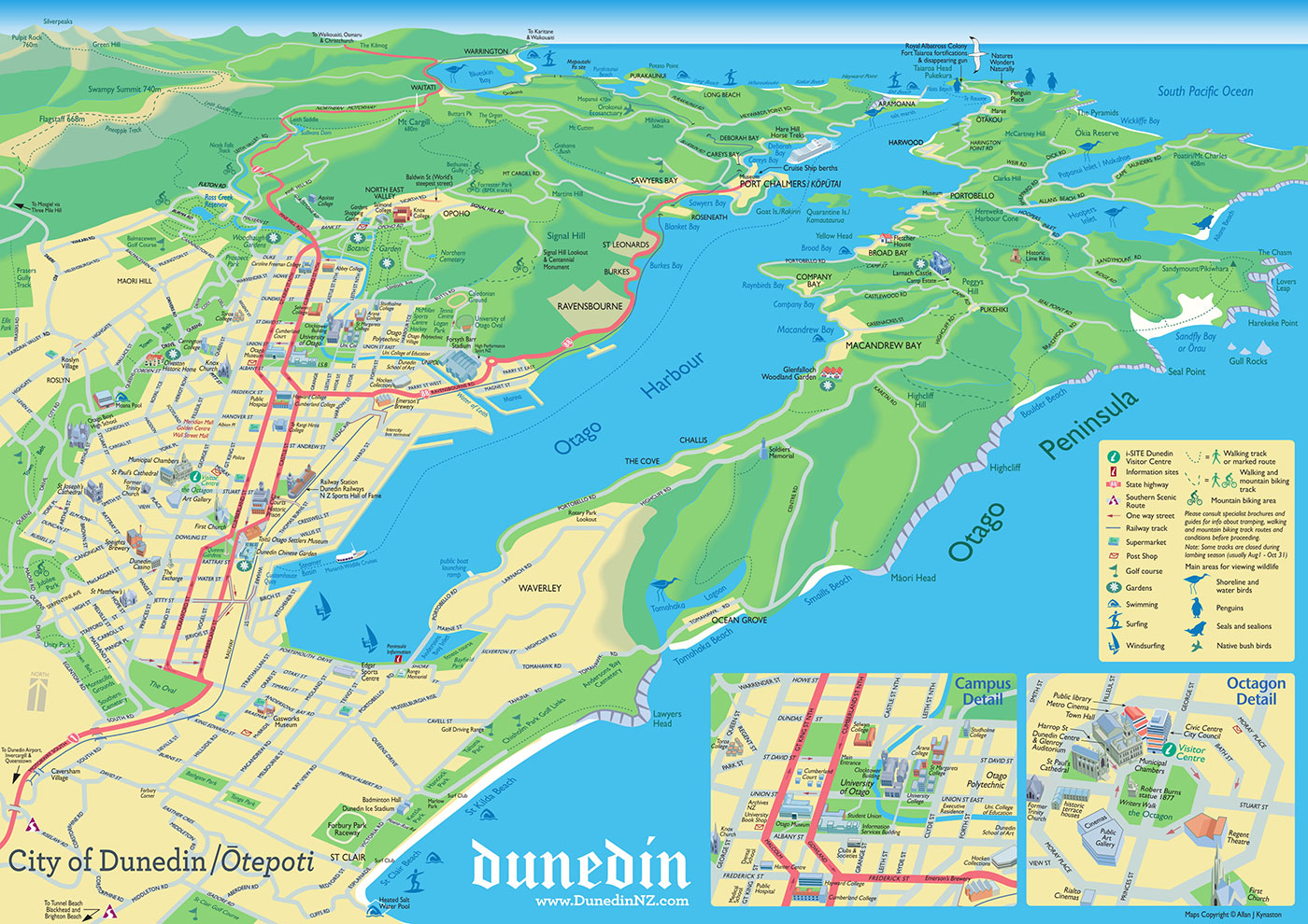 City of Dunedin map