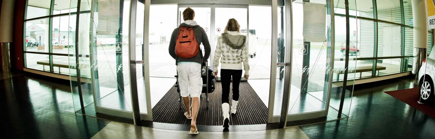 Students arriving at Dunedin International Airport
