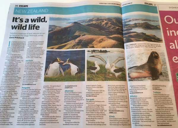 Escape Australia article