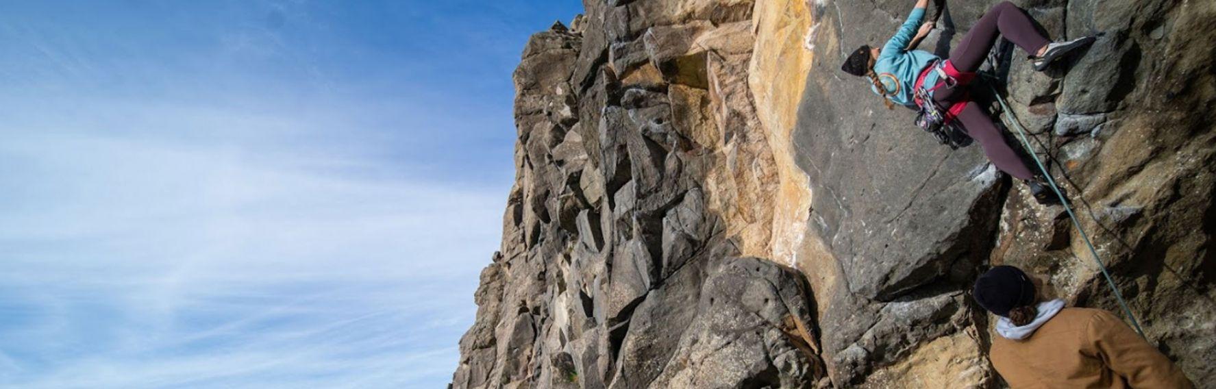 Rock climbing at Long Beach