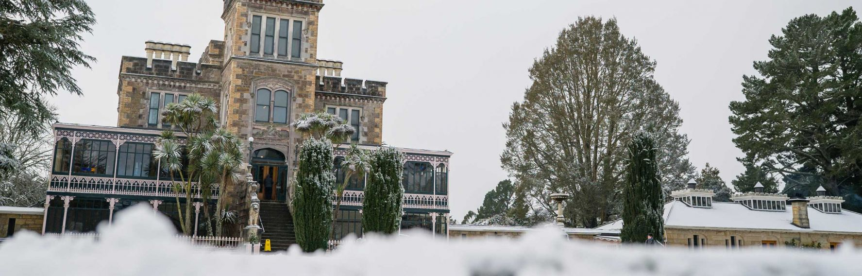Larnach Castle snow