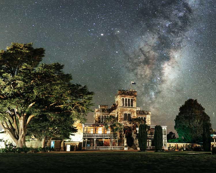 Larnach Castle under the Milky Way