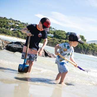 Kids at Brighton Beach
