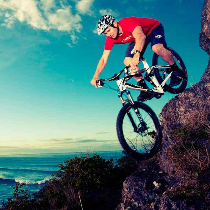 Mountain biking at Brighton Beach