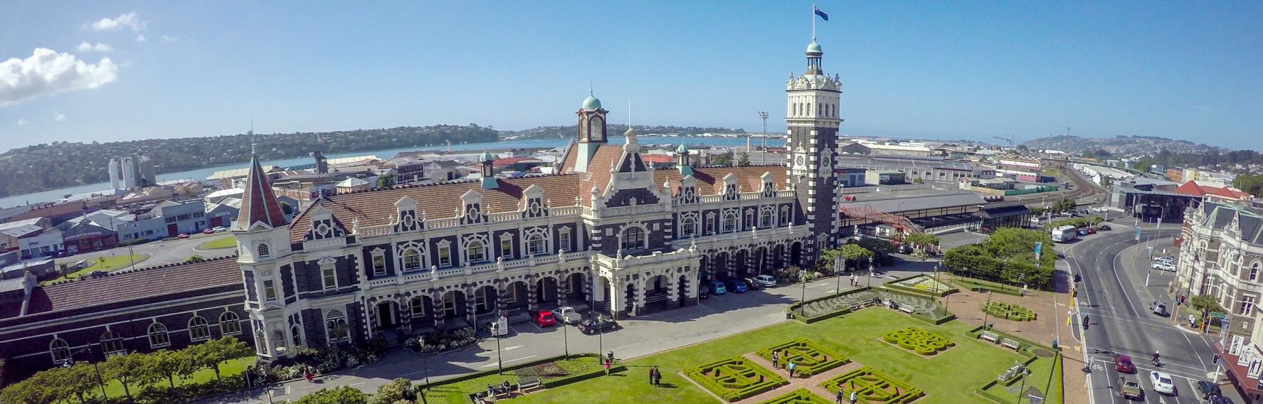 Aerial view of the Dunedin Railway Station