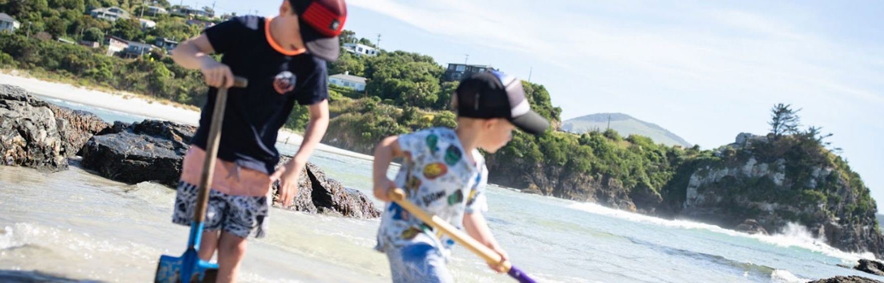 KIds playing on Brighton Beach