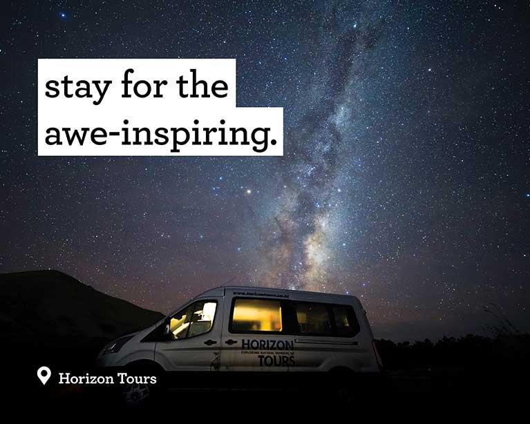 Stay for the awe-inspiring - Horizon Tours