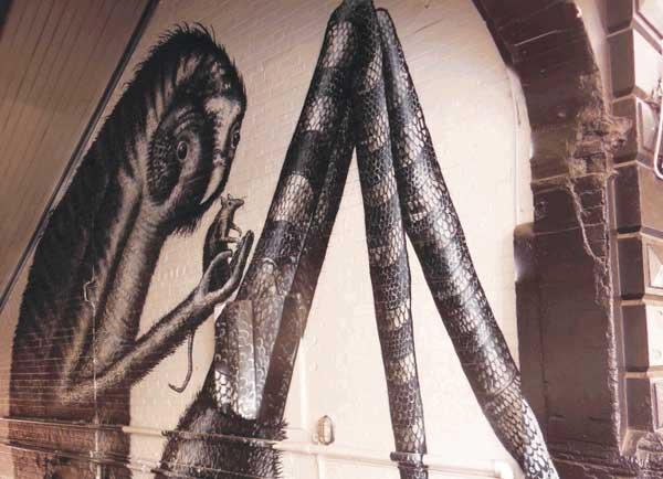 English street artist Phlegm