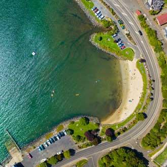 Macandrew bay aerial shot