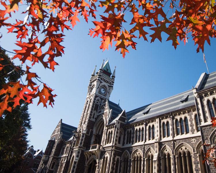 University of Otago Clocktower in Autumn