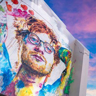 Ed Sheeran mural