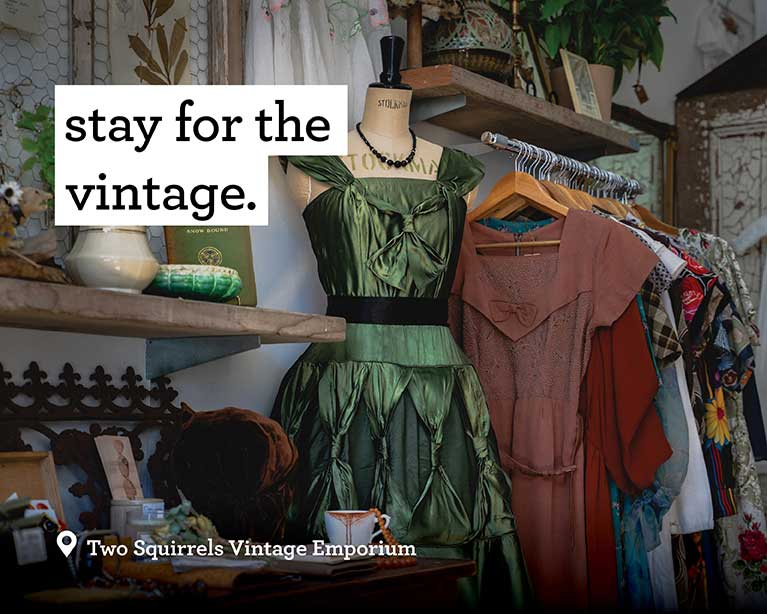 Stay for the vintage - Two Squirrels Vintage Emporium